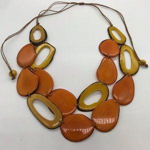 Jewelry - Tagua Nut Necklace  / Organic Jewelry